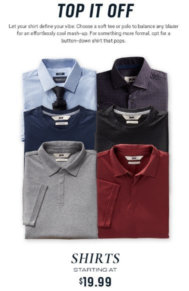 Shirts Starting at $19.99 from Men's Wearhouse and Tux