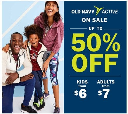 Old Navy Active up to 50% Off from Old Navy