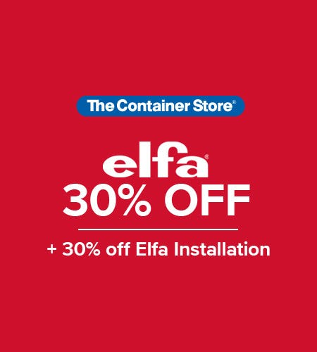 The Container Store Elfa Sale from The Container Store