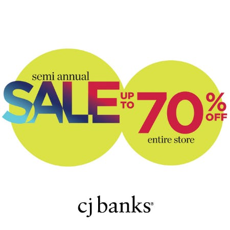 Up to 70% off from cj banks