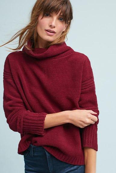 Chenille Mock Neck Pullover