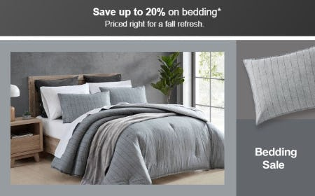 Save Up to 20% on Bedding from Target
