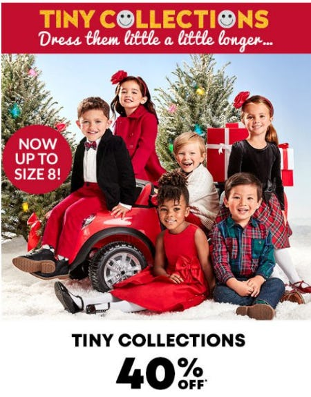 40% Off Tiny Collections from The Children's Place