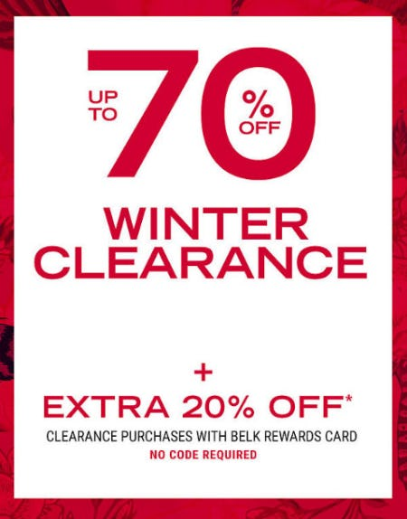 Up to 70% Off Winter Clearance from Belk