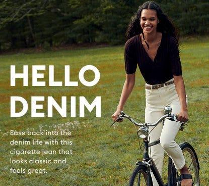 Introducing: High-Rise Slim Denim from Banana Republic