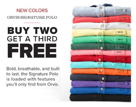 B2G3 Free Orvis Signature Polo from Orvis