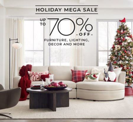 Up to 70% Off Holiday Mega Sale from Pottery Barn