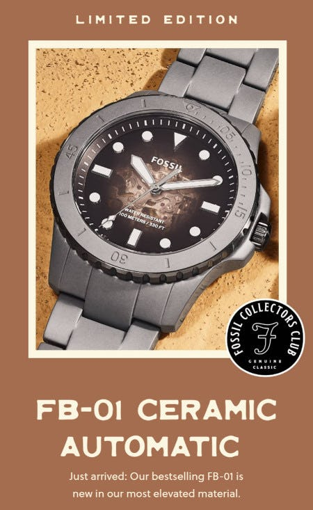 Just Arrived: FB-01 Ceramic Automatic from Fossil