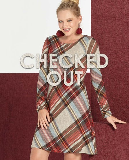 Plaid Dresses from Versona Accessories