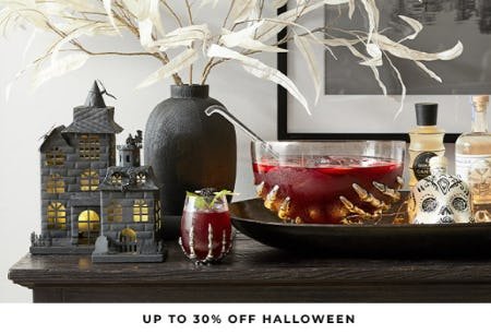 Up to 30% Off Halloween from Pottery Barn