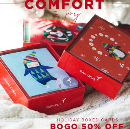 BOGO 50% Off Holiday Boxed Cards from PAPYRUS