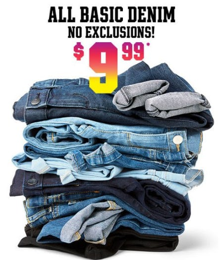 All Basic Denim $9.99 from The Children's Place