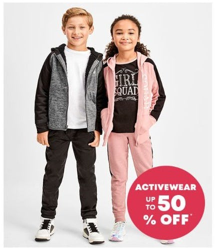 Up to 50% Off Activewear from The Children's Place