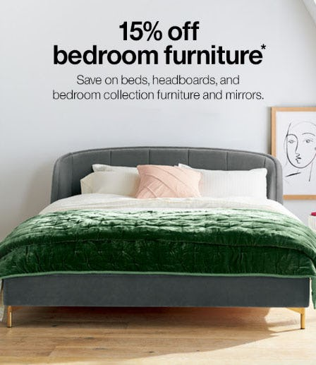 15% Off Bedroom Furniture from Crate & Barrel