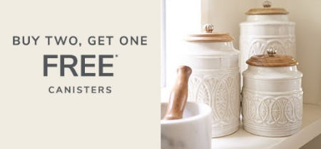 B2G1 Free Canisters from Pier 1 Imports