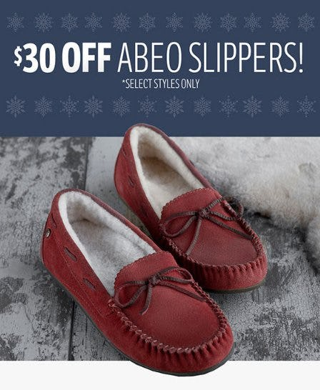 $30 Off Abeo Slippers