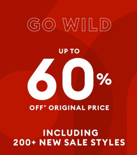 Up to 60% Off Original Price