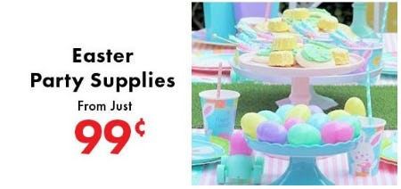 Easter Party Supplies from just 99¢ from Party City