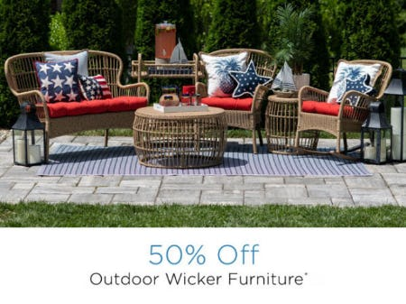 50% Off Outdoor Wicker Furniture