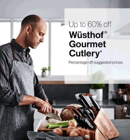 Up to 60% Off Wüsthof Gourmet Cutlery from Crate & Barrel