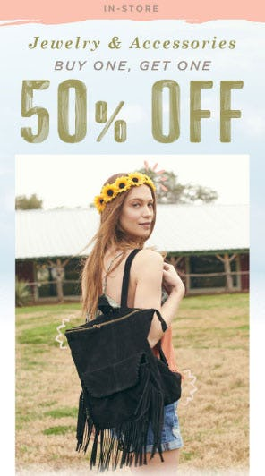 BOGO 50% Off Jewelry & Accessories