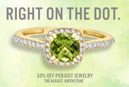 August Birthstone Jewelry Sale: 30% OFF