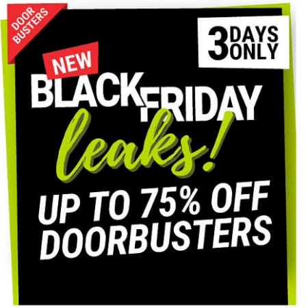 Up to 75% Off Black Friday Leaks!