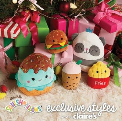 Exclusive styles of Squishmallows available at Claire's! from Claire's