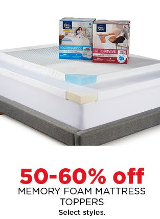 50-60% Off Memory Foam Mattress Toppers from Kohl's