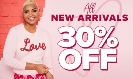 All New Arrivals 30% Off from Woodlands Anc Acq/New York & Co