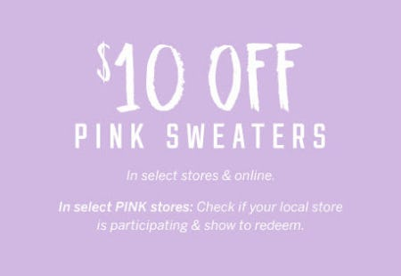 $10 Off Pink Sweaters from Victoria's Secret