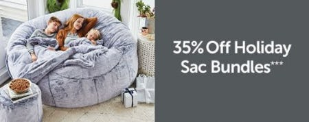 35% Off Holiday Sac Bundles from Lovesac Designed For Life Furniture Co