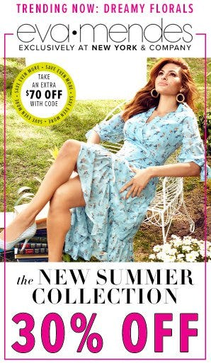 30% Off The New Eva Mendes Summer Collection from New York & Company