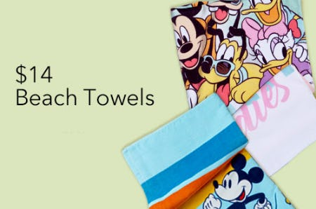 $14 Beach Towels from Disney Store