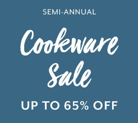 Up to 65% Off Cookware Sale