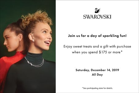 Holiday Event + Sparkling Gift with purchase of $175 or more from Swarovski