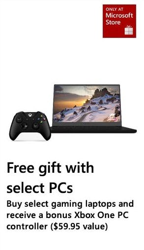 Free Gift with Select PCs from Microsoft