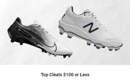 Top Cleats $100 or Less from Dick's Sporting Goods