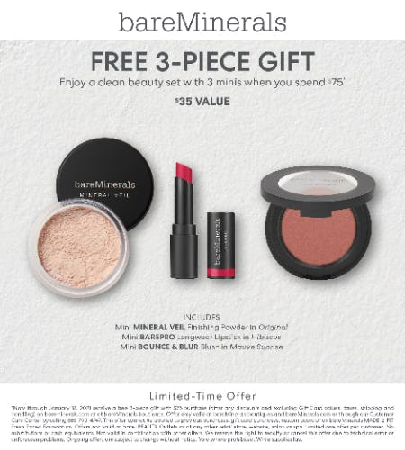 Original Liquid Foundation Launch Event: Gift with purchase of $75 or more from bareMinerals