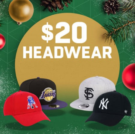 $20 Headwear from Lids
