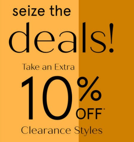 Take an Extra 10% Off Clearance Styles from Zales Jewelers