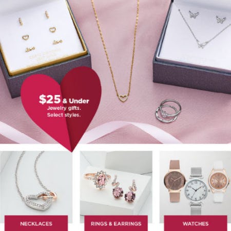 $25 & Under Jewelry Gifts