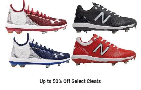 Up to 50% Off Select Cleats from Dick's Sporting Goods