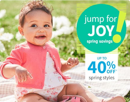 Up to 40% Off Spring Styles