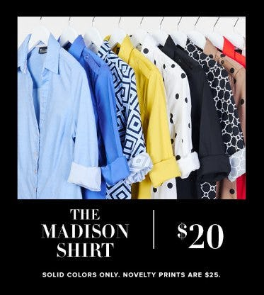 $20 Madison Shirt from New York & Company