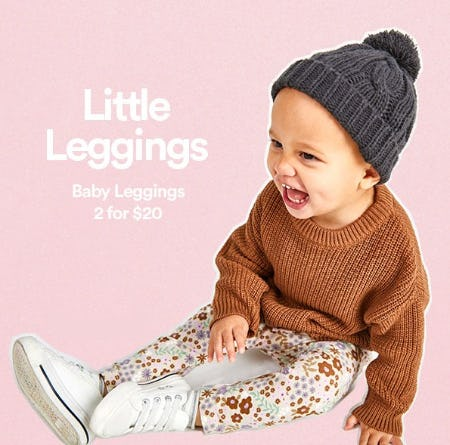 Baby Leggings 2 for $20 from Cotton On Kids