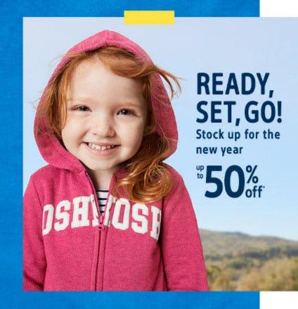 Up to 50% Off Cozy Logo Layers from Oshkosh B'gosh