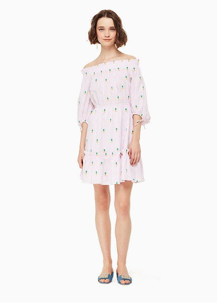Pineapple Off The Shoulder Dress from kate spade new york