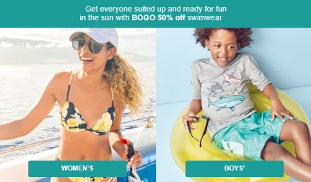 BOGO 50% Off Swimwear