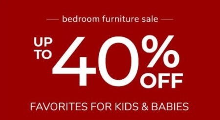 Bedroom Furniture Sale: Up to 40% Off from Pottery Barn Kids